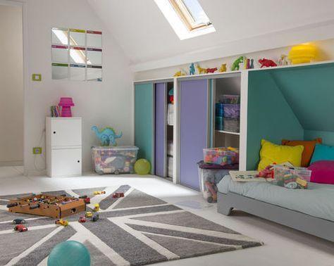 Une chambre d\'enfant sous les étoiles | Kids rooms, Attic and Room
