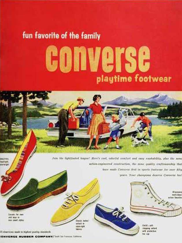 como escoger el precio se mantiene estable precio asombroso Publicidad-vintage-Converse | Publicidad retro, Pubclicidad de ...