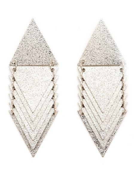 Layered Geometric Dangle Earrings: Charlotte Russe