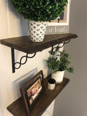 organic edge wood mix & match wall shelves | shelves