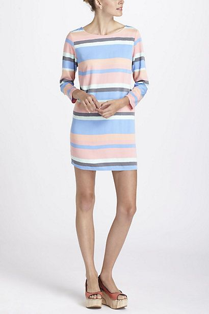 Loooove.  Striped Boatneck Mini Dress  #anthropologie