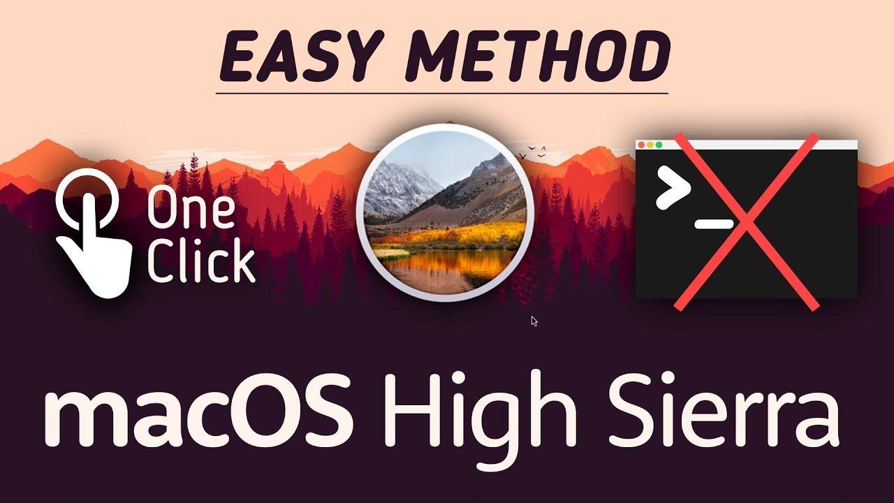 high sierra bootable usb