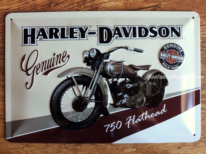 Placa HARLEY-DAVIDSON 750 FLATHEAD - 20 x 30 cm. de Nostalgic-Art ...