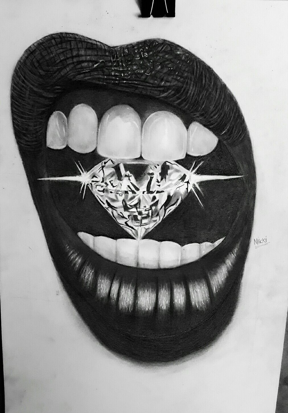 Hyperrealistic Drawing By Pencil And Charcoal On Bristol Paper