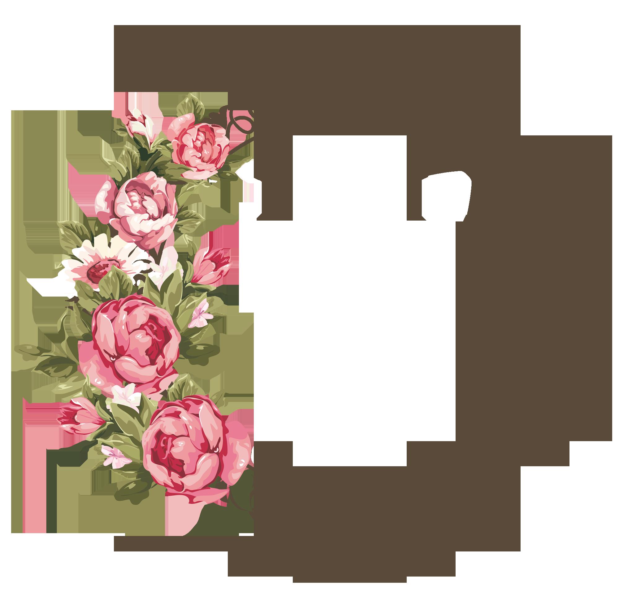 image title Flower frame, Flower frame png, Rose frame
