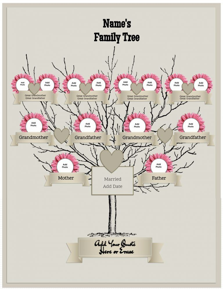 Free Family Tree Template That Can Be Customized Online Family