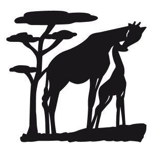 Silhouette animaux savane recherche google bricolage savane jirafas et manualidades - La savane dessin ...