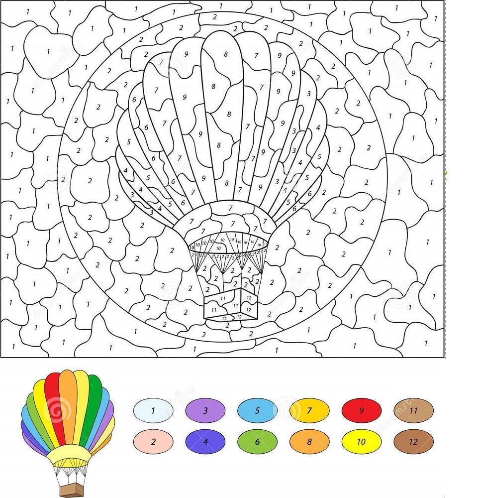 Color By Number Mosaic Balloon Coloring Pages Leaf Coloring Page School Coloring Pages