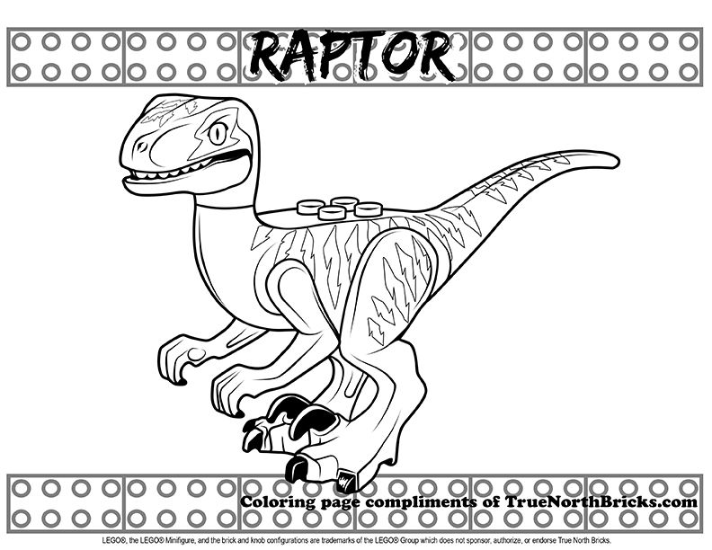 Coloring Raptor True North Bricks Coloring Pages Lego Coloring Pages Preschool Coloring Pages