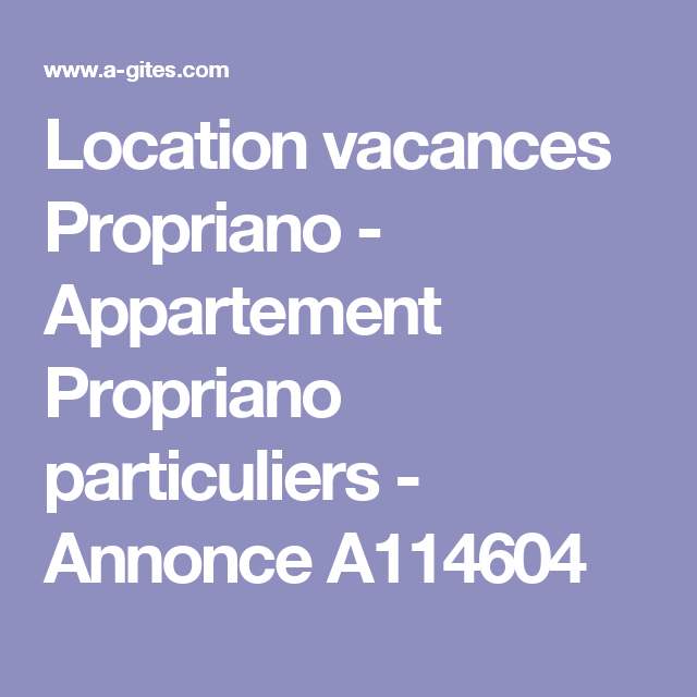 Location Vacances Propriano   Appartement Propriano Particuliers   Annonce  A114604