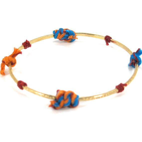 Arm Candy  Multi coloured golden bangle by Handmade1Station, $2.00