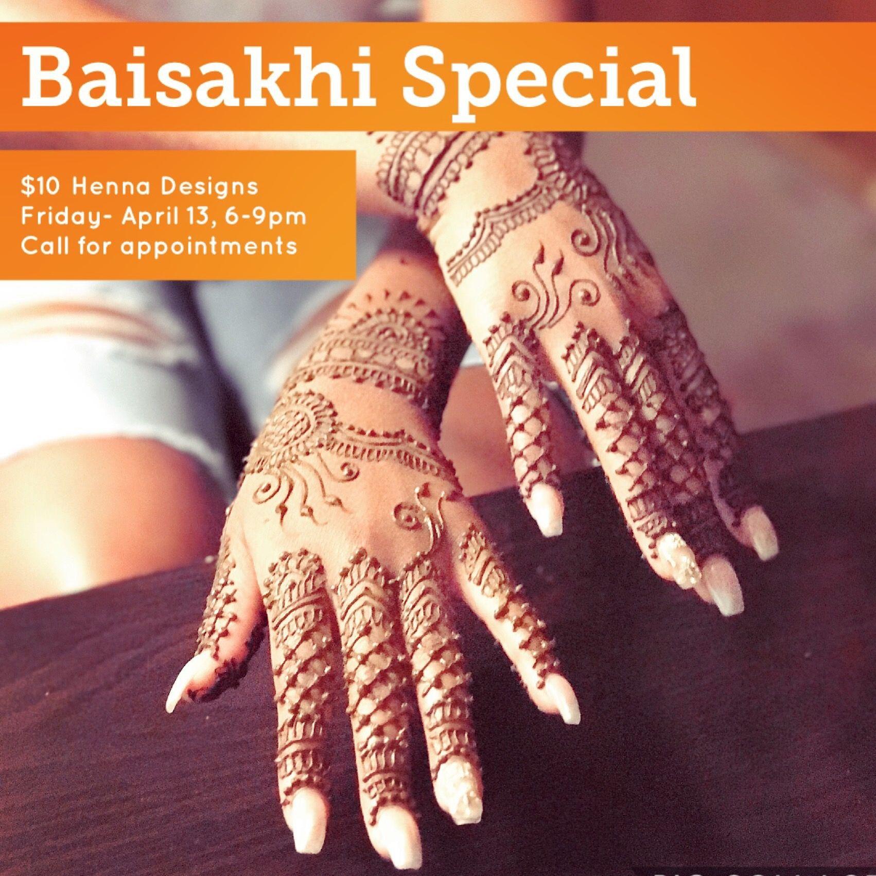Baisakhi Special Event 10 Henna Designs all evening