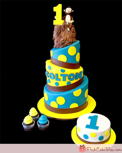 Coltons 1st Monkey Birthday Cake Celebration Cakes Monkey
