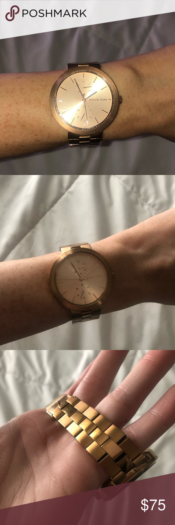 ROSE GOLD MICHAEL KORS WATCH some wear and tear but in