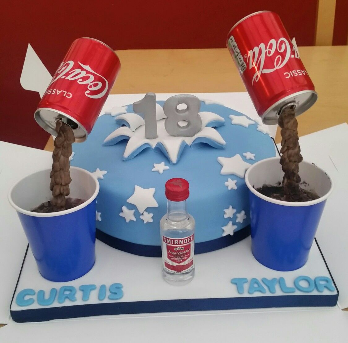 18th Birthday Cake With Alcohol Drink Pouring Cake Toppers Cakes