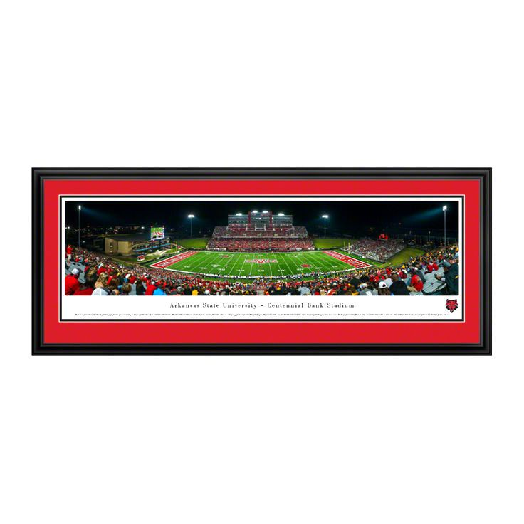 """Arkansas State Red Wolves 18"""" x 44"""" Deluxe Frame Panorama Wall Art - $159.99"""