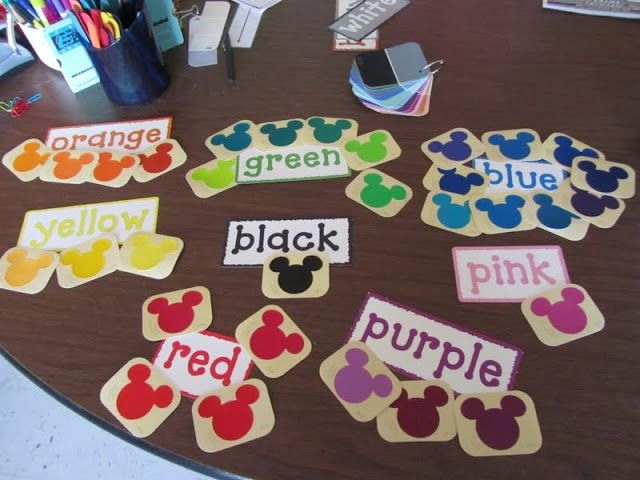 Mickey Mouse Color Chart Teaching Teach Decorations