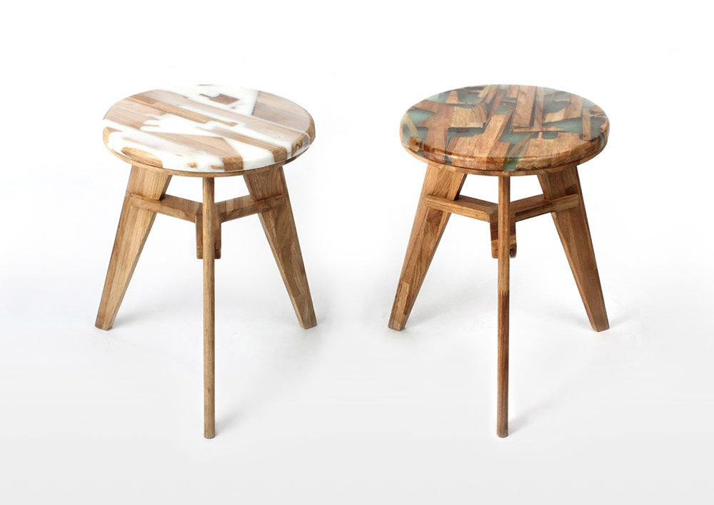 Unique Stool Design Utilizes Offcut Wood Combined With Resin To Eliminate  Construction Waste | Colossal