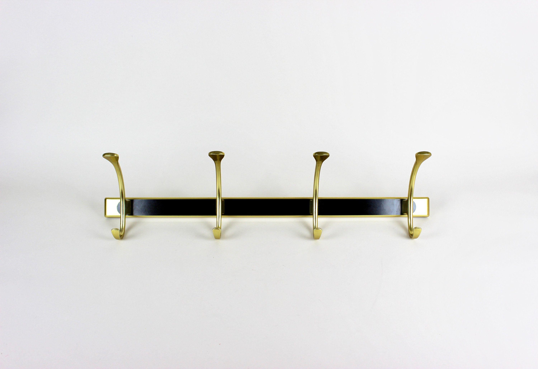 Vintage Garderobe Wandhaken Garderobenleiste Schwarz Gold