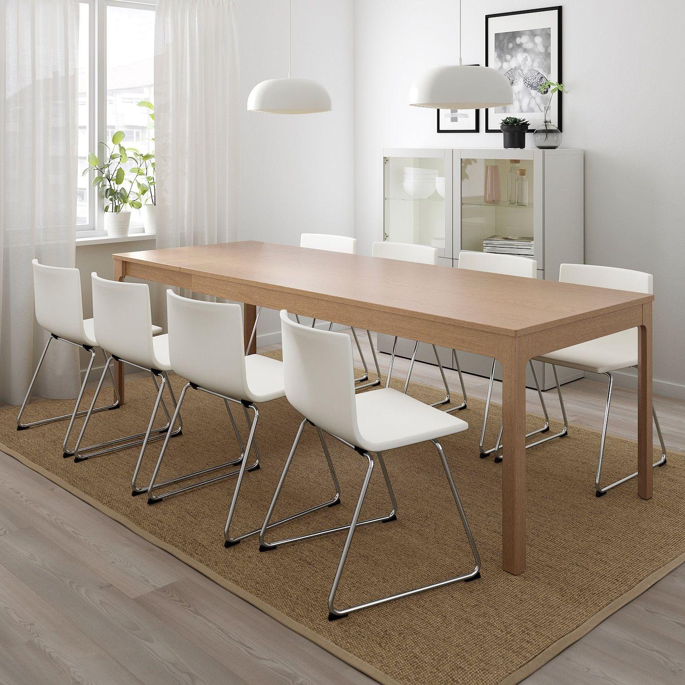 EKEDALEN / BERNHARD Table et 12 chaises   chêne/Mjuk blanc  pas ...
