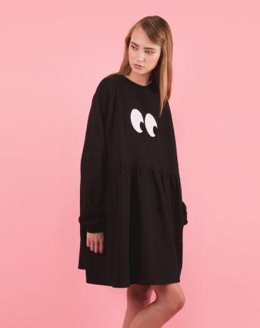 97afeb3e90 Lazy Oaf Eyeball Sweater Dress