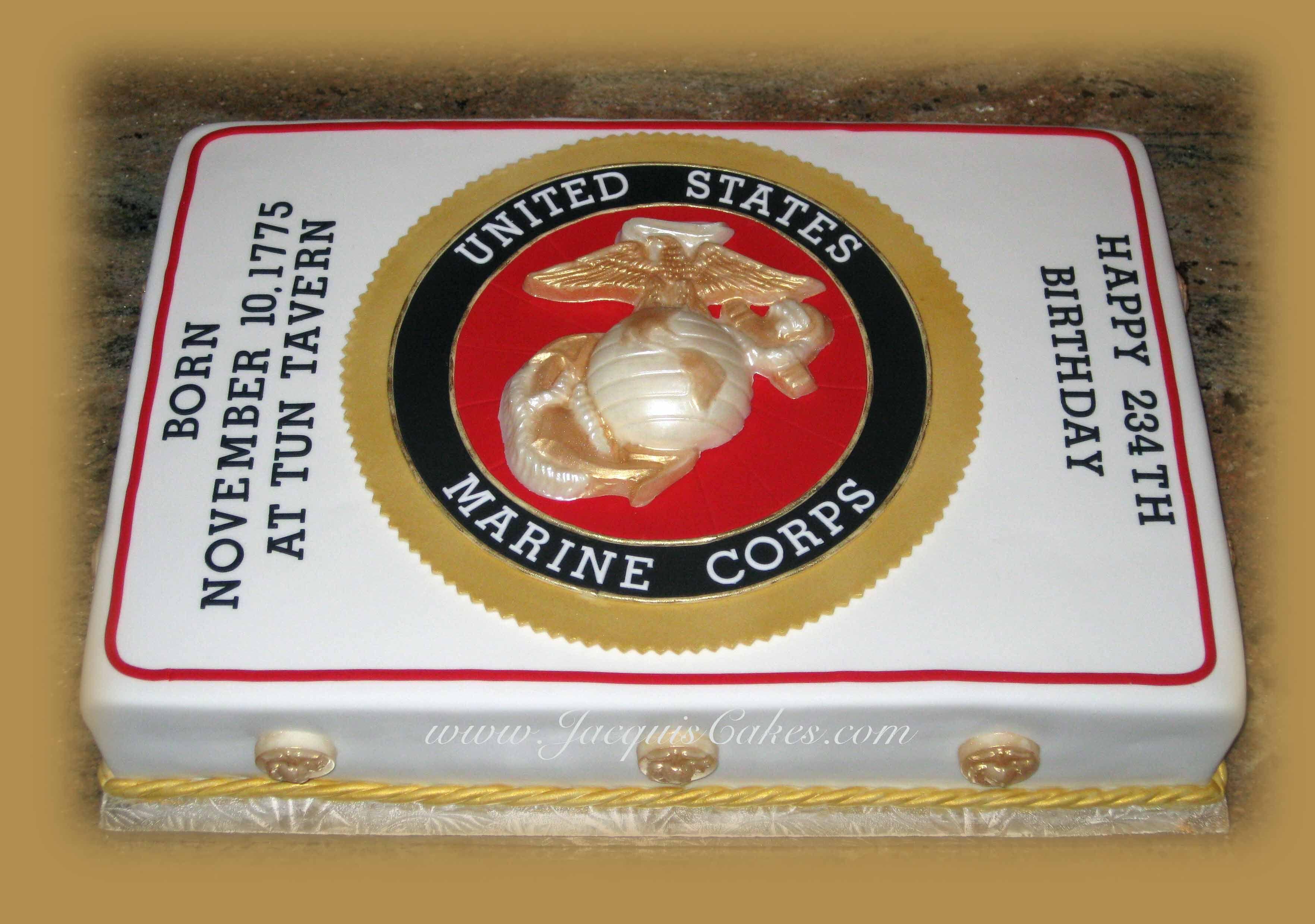 U.S. Marine 234th Birthday Cake Military cake, Marine