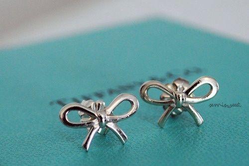 Tiffany Co Bow Earrings