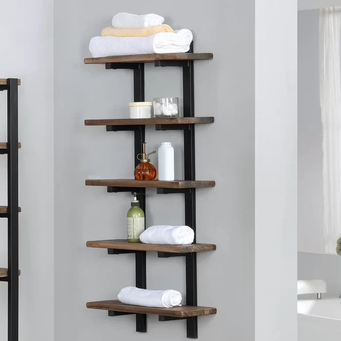 Steadman 20 W X 48 H X 8 D Wall Mounted Bathroom Shelves In 2020 Shelves Bathroom Shelves Wall Mounted Cabinet