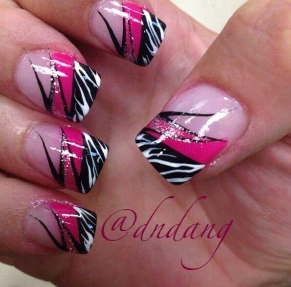 Beautiful Photo Nail Art: 19 Zebra Nails Art Design Ideas - Beautiful Photo Nail Art: 19 Zebra Nails Art Design Ideas Nails