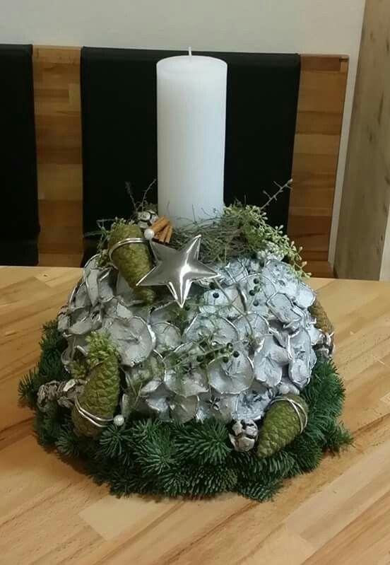 silberne apfelscheiben floristik dekoration gestecke. Black Bedroom Furniture Sets. Home Design Ideas