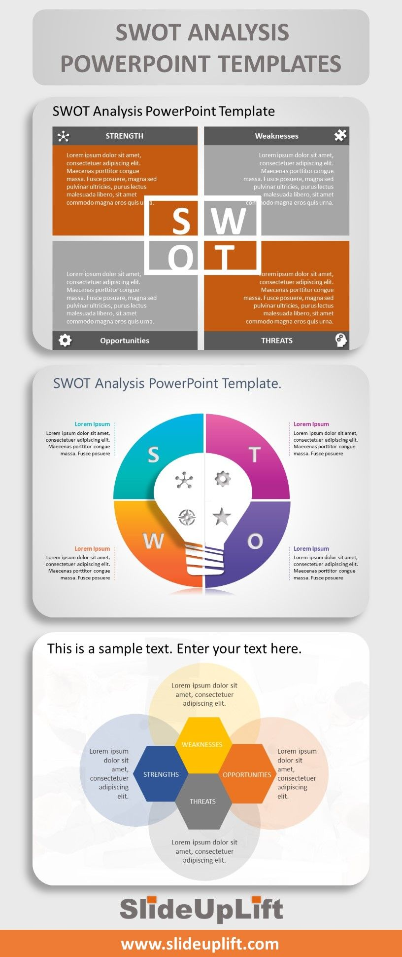 SWOT Analysis Powerpoint Templates in 2020 Swot analysis