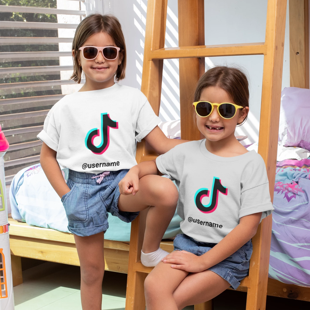 Kids Tiktok Tshirt With Username Instagram Party Famous Shirts 12th Birthday Party Ideas