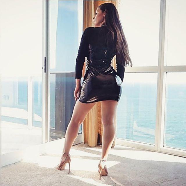 b45b97ec6ccbc Mock Neck Pu Patchwork Mesh Sheer Bodycon Dress | Lupsona : Ins ...