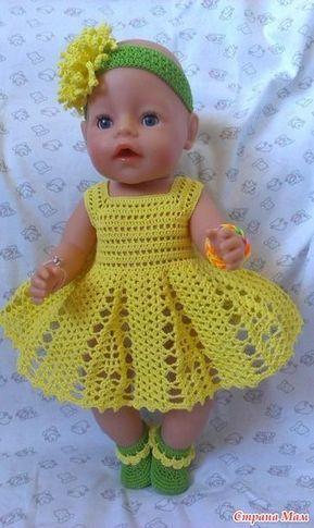 Новое платье и немного старенького #vestidosparabebédeganchillo