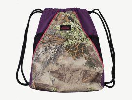 Realtree Purple Drawstring Bag