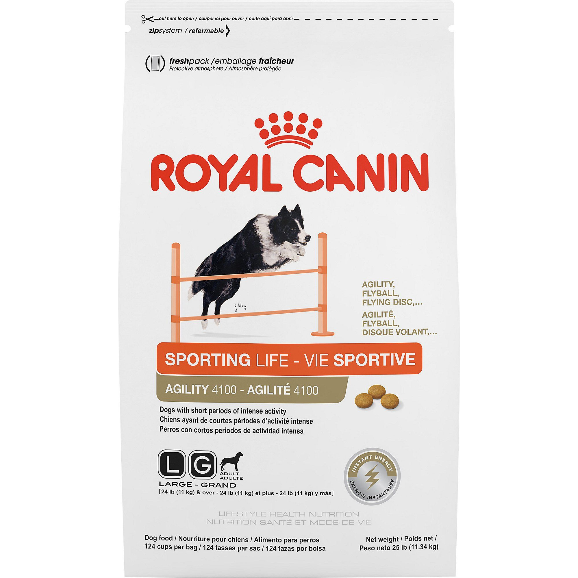 Royal Canin Lifestyle Health Nutrition Sporting Life Agility Dry Dog Food 25 Lbs Dry Dog Food Best Dog Food Dog Food Recipes