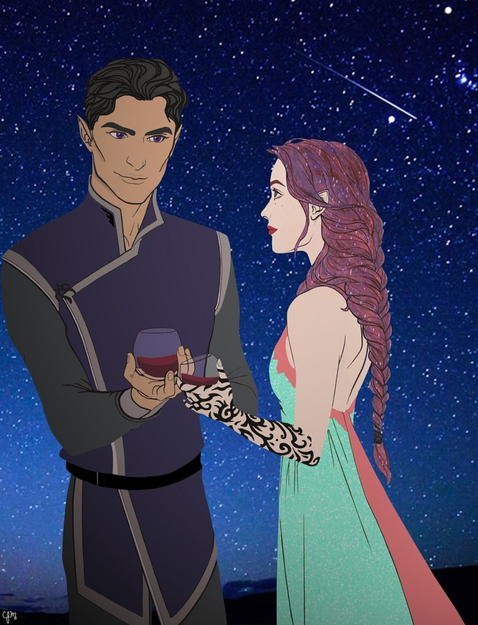 My Rendition Of Rhys And Feyre At The Summer Court A Court Of