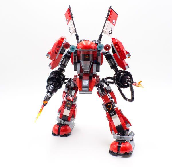 lego 70615 fire mech un mod pour le rendre plus souple sur ses jambes - Ninjago Rouge