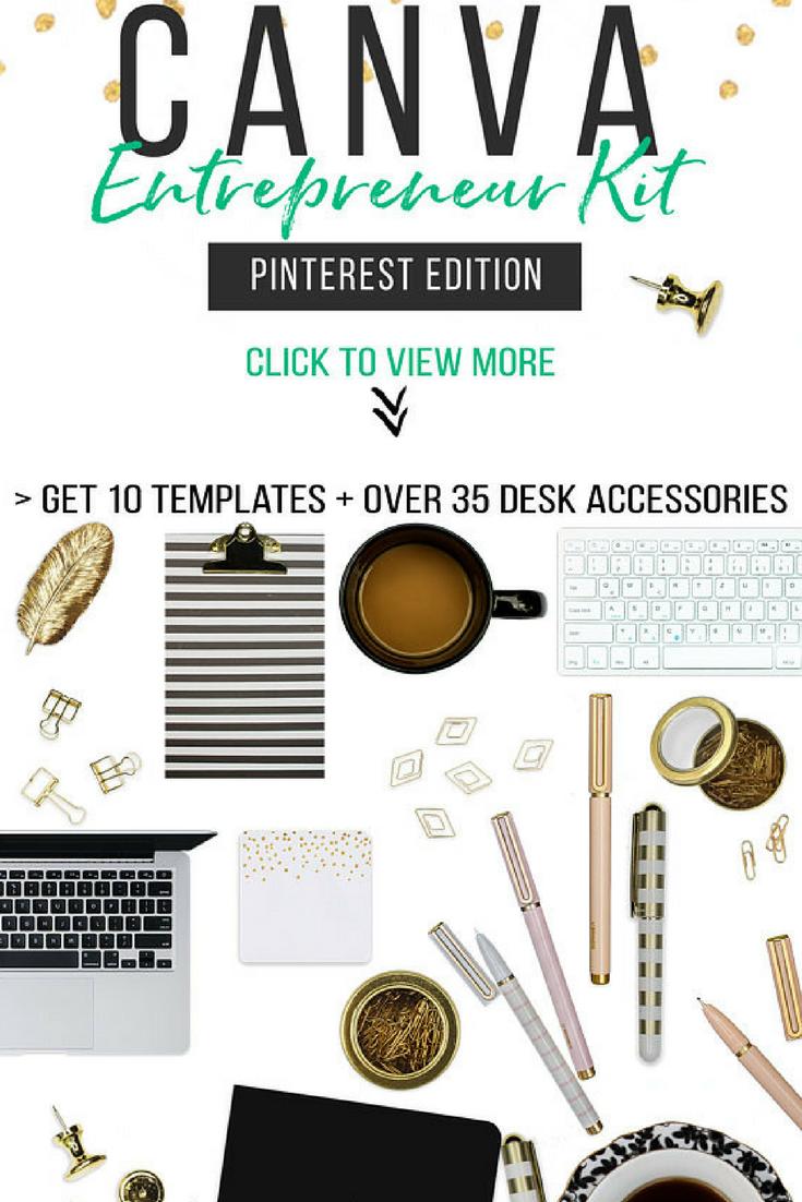 Social media kit templates scene creator kit for canva top view mockup creatorpinterest for Media kit canva