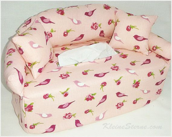 Handkerchief Sofa Birdie Upholstery Couch Tissue Box Cover