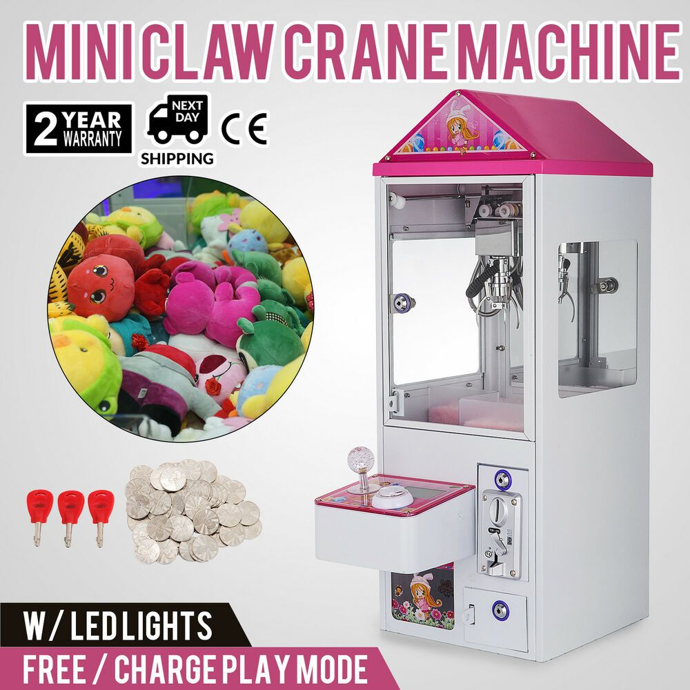 Toy Grabber Machine W LED Lights Electronic Claw kids fun play game candy NEW