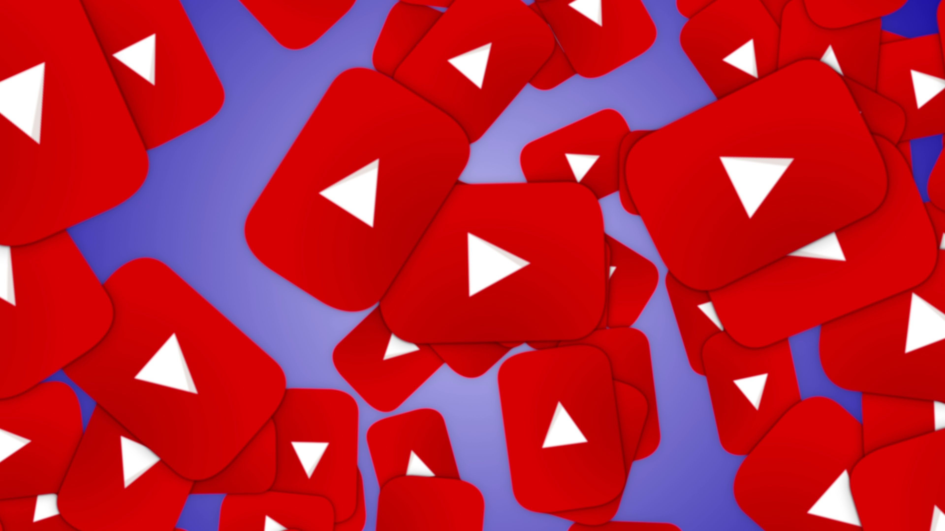 Falling YOUTUBE Logo Animation, with Alpha Channel Stock