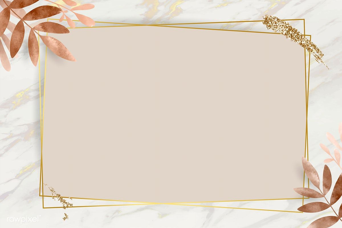 Download premium vector of Leafy golden rectangle frame vector 1216963