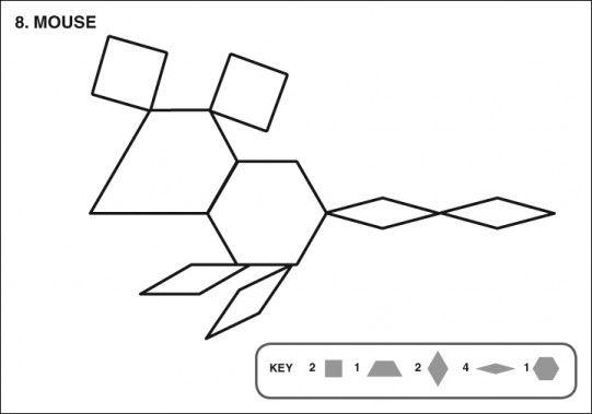 Mouse Tangram Pattern Blocks Math Patterns Pattern