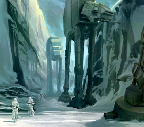 Star Wars Concept Art Ralph Mcquarrie Hoth Imperial Walker Star Wars Awesome Star Wars Poster Star Wars Empire