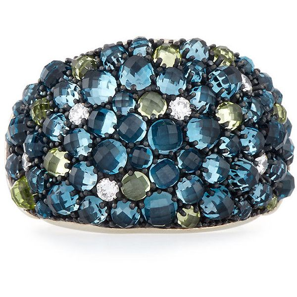 David Yurman Osetra Mosaic Dome Ring with Diamonds ZdCUK