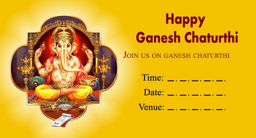 ganpati invitation message 2019 with cards  ganpati