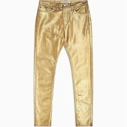 Photo of Calvin Klein Ckj 020 High Rise Slim jeans revestido a ouro 2832 Calvin Klein