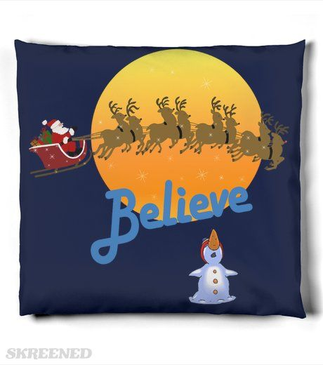Christmas Santa Claus Believe | Believe In Santa Claus, Cute Christmas  Decor. #Skreened