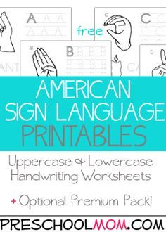 free asl printables american sign language